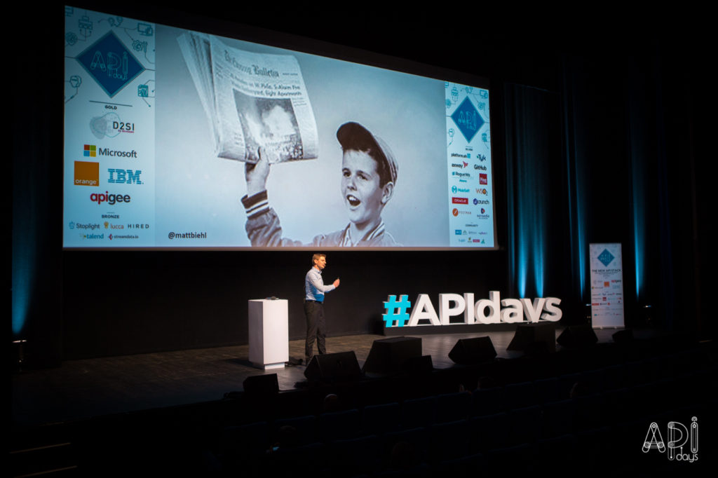 Matthias Biehl talking about Digitial Ecosystems at APIDays Conference