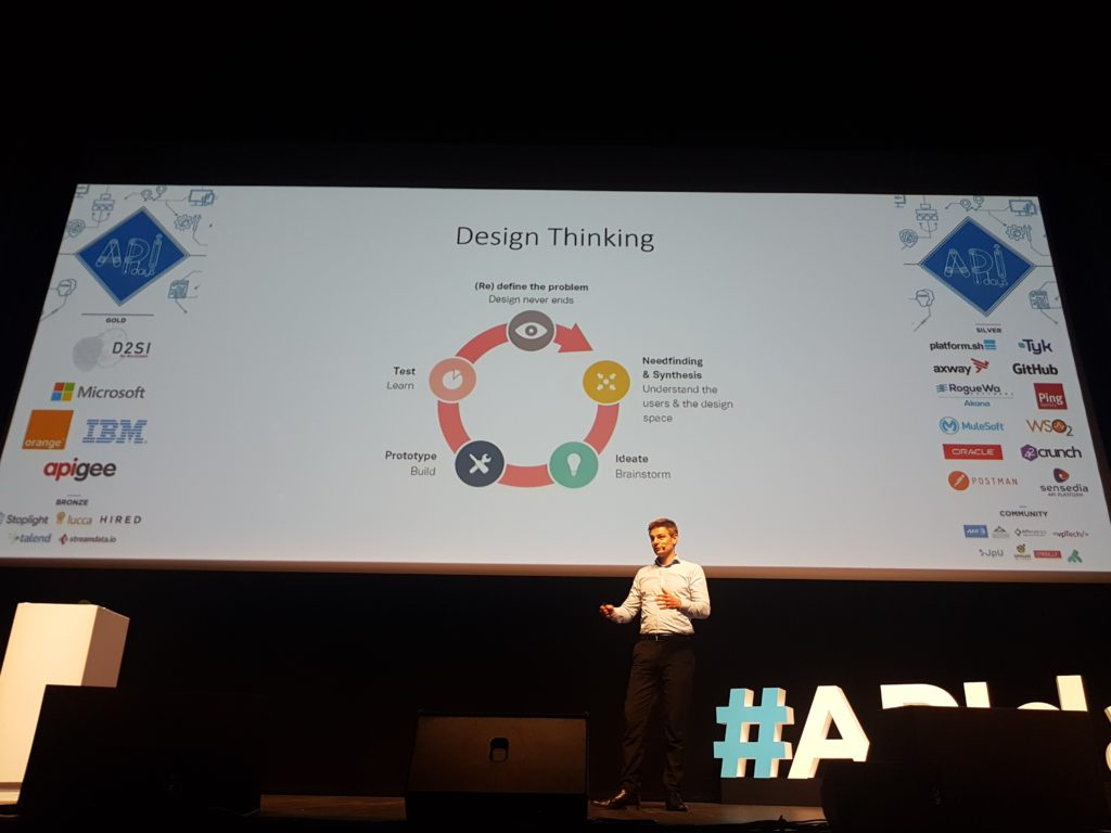 Matthias Biehl talking about Digital Ecosystems at APIDays Conference