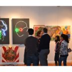 Neon portraits at Watchung Art Center, NJ by Tania Sen