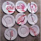 Fizzy Dreams, painted porcelain plates, by Tania Sen