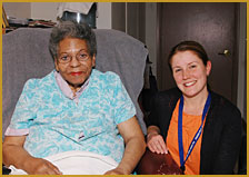 Loretta and her Care Manager, Eliza Chace