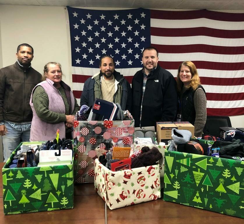 OCES Staff Donations to Veterans at the Brockton VA Medical Center