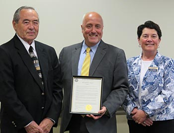 Ted Lang, Mayor Carpenter, Diana DiGiorgio
