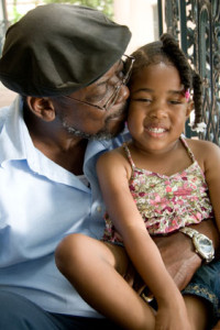 man with granddaughter