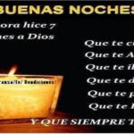 Oración para la noche del martes 26-5.-2020