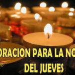Oración para la noche del jueves 23-7-20