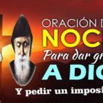 Oración para la noche del domingo 28-6-20