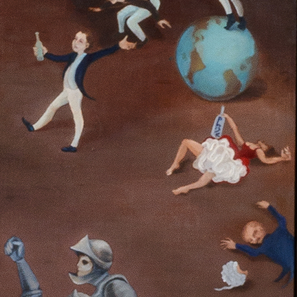 Stephanie Mercado, Live Through This, 2007 - 2015, oil on wood panel, 63 x 120""