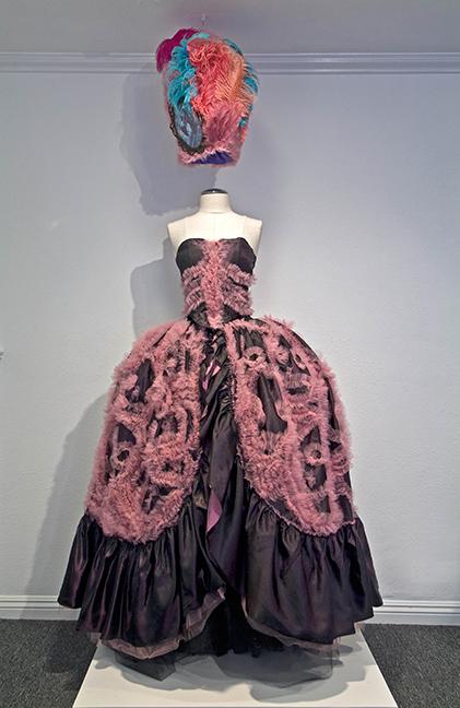 "Stephanie Mercado, A Stitch in Time, 2009, taffeta and tulle, 72 x 36 x 12"""