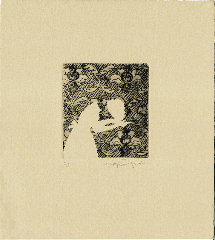 "Stephanie Mercado, Untitled drypoint, Ed. 4 11 x 10"""