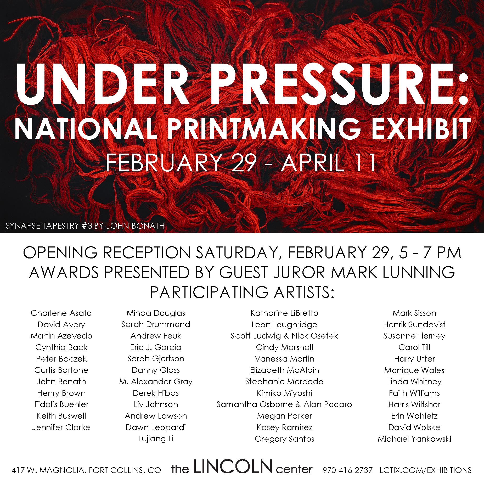 Under Pressure National Printmaking Exhibit MoPrint Colorado
