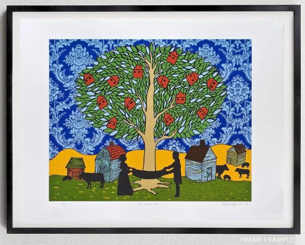 stephanie mercado the golden tree serigraph framed example