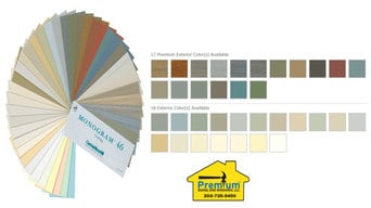 We have over 120 siding and trim colors