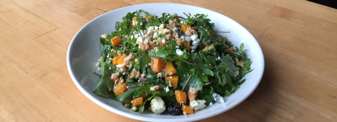 Salad Special: Butternut Squash with Baby Kale