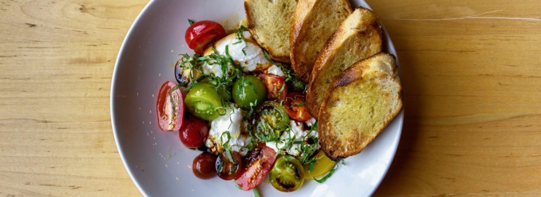 SALAD SPECIAL: BURRATA WITH HEIRLOOMS