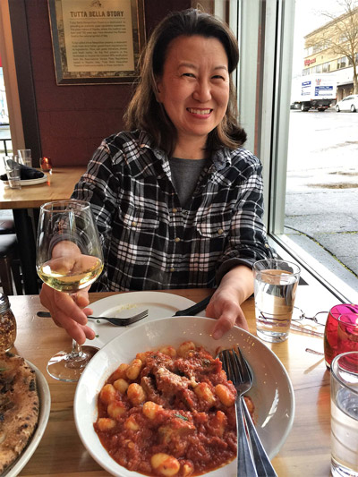 Chef Lisa Nakamura with Tutta Bella Gnocchi
