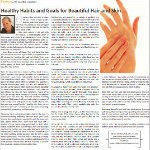 Healthy Habits and Goals for Beautiful Hair and Skin
