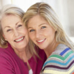 Caregiver mother and daughter