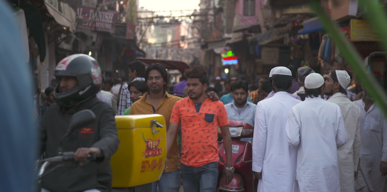 Filming in India for Columbia U.