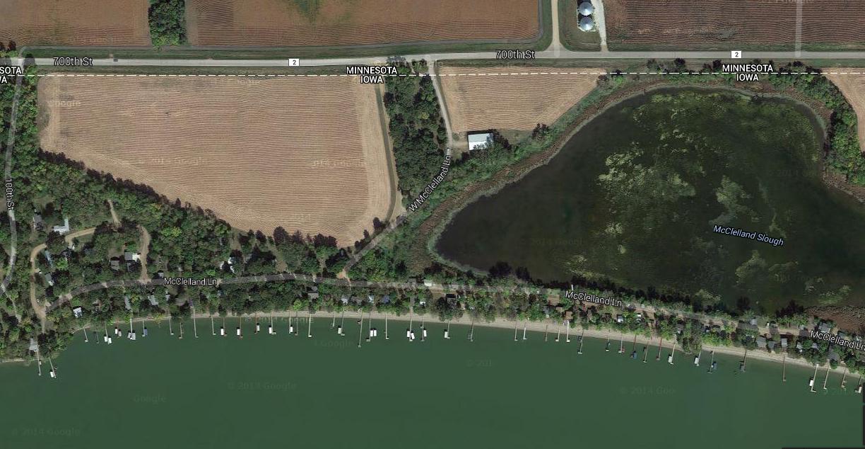 Aerial view - McClellands Beach - Spirit Lake - Iowa - 51360