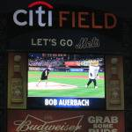 Bob Auerbach throws strikes at Mets game