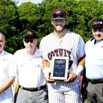 Will Haynie receives CCBL's sportsmanship award