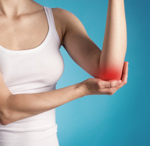 Rheumatism. Elbow injury and pain.