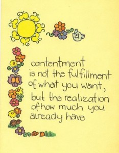 Learning Contentment in the Changing Seasons