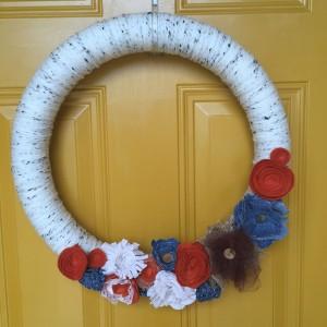 fall burlap wreaths yarn wreath