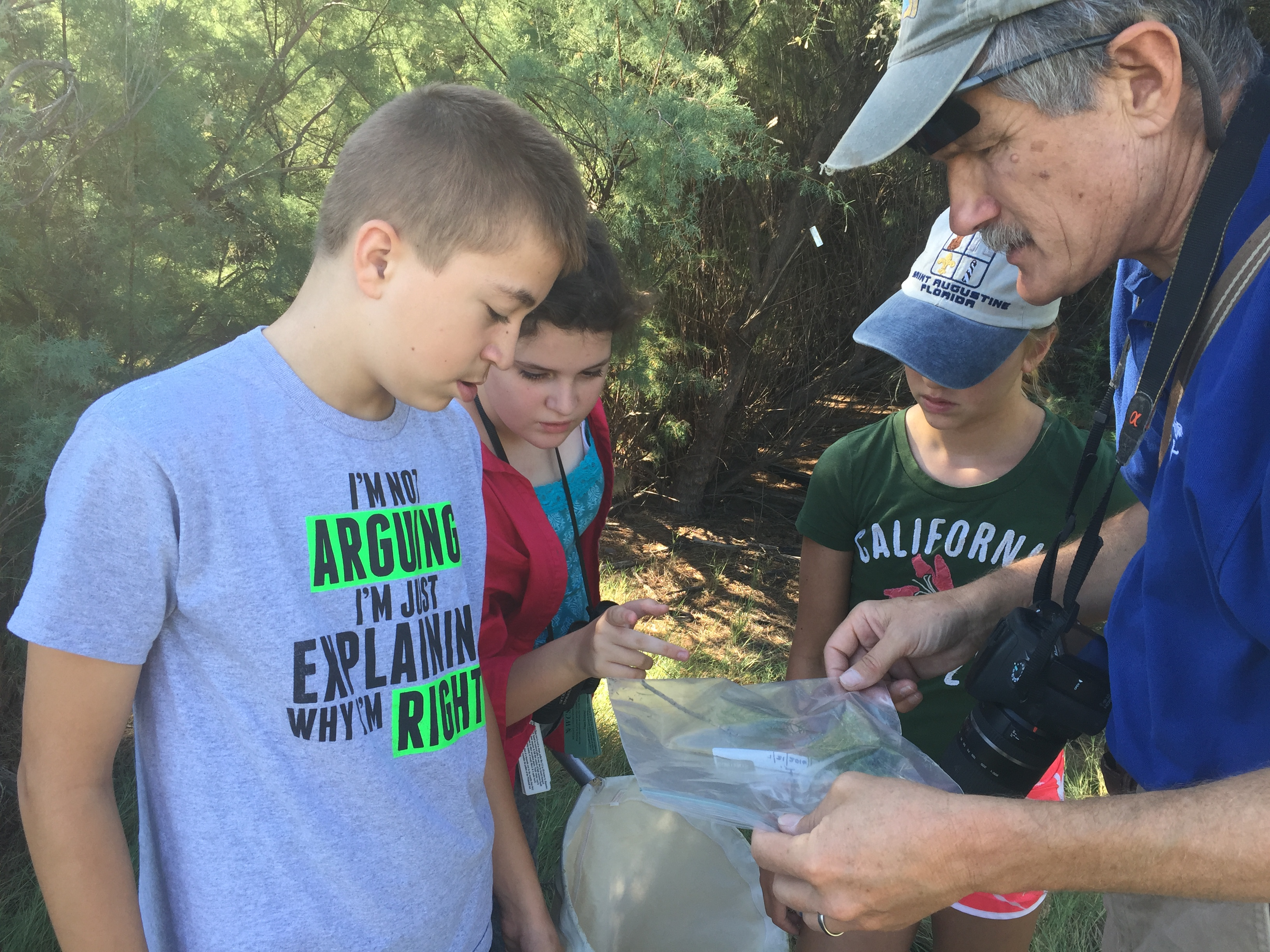 Examining outdoor discoveries