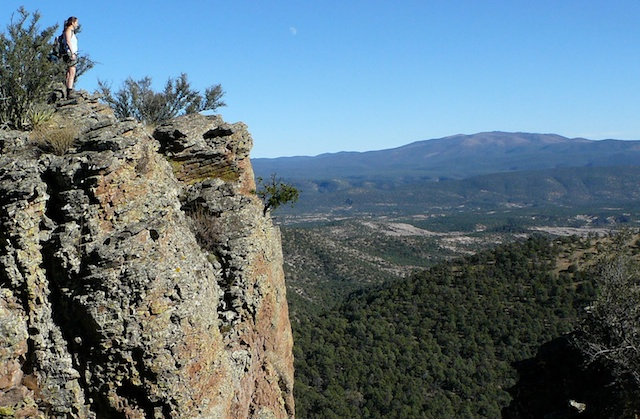standing on cliffs