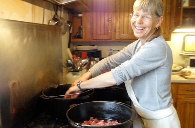 mb at stove