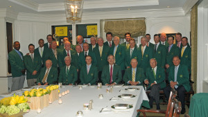 Champion Dinner at Augusta National Golf Club on Tuesday, April 5, 2016.