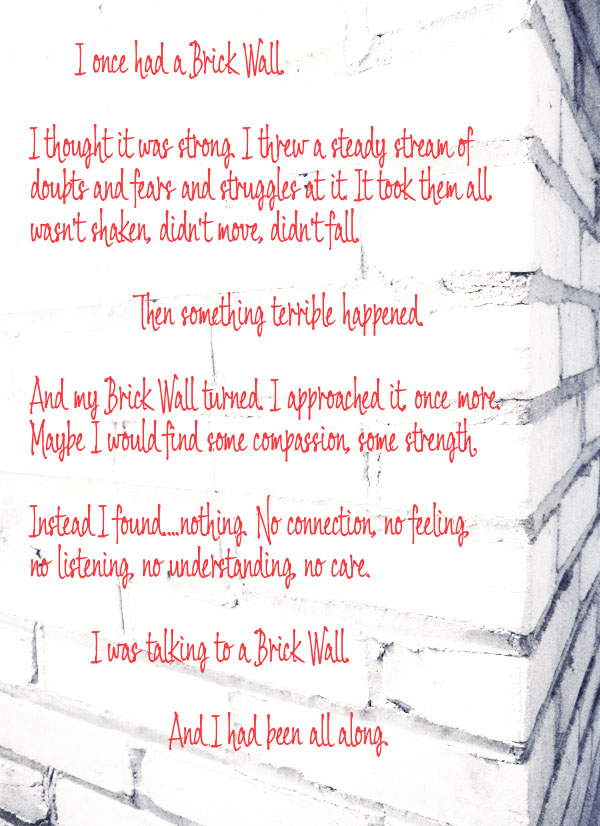 Brick Wall Poem | The Both And | Shorts and Long | Julie Rybarczyk