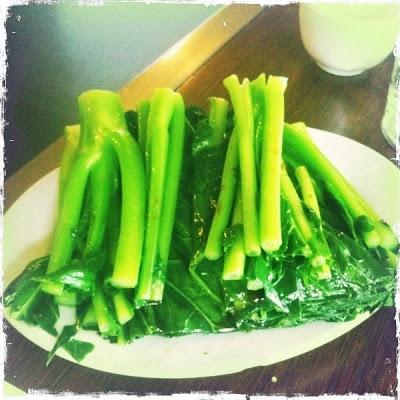 photo of Chinese broccoli