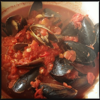 photo of chilli mussels