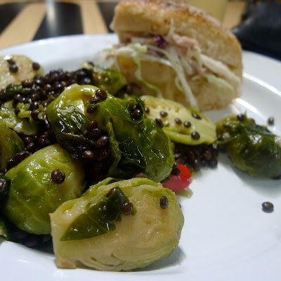 photo of wood-fired sprouts