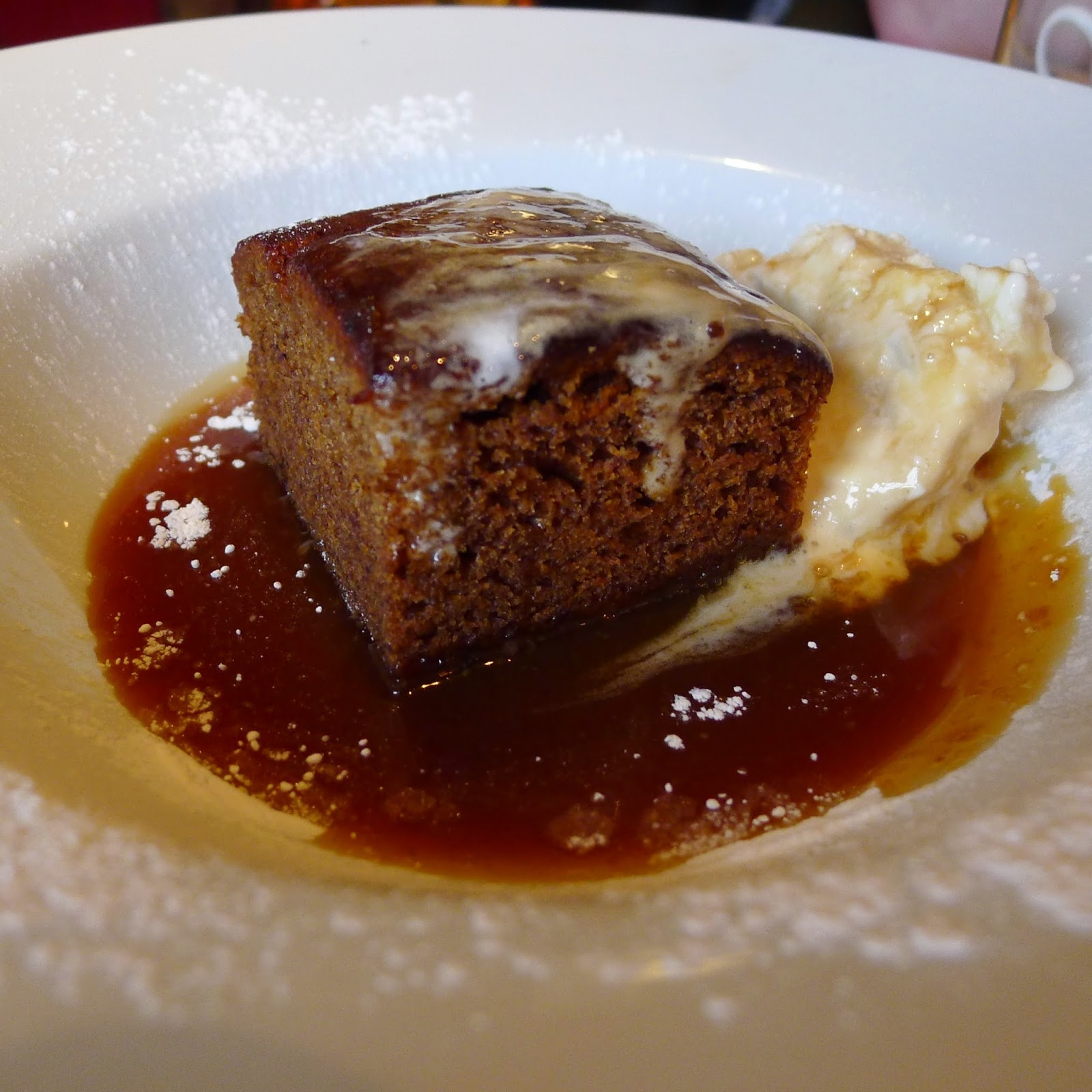 photo of sticky toffee pudding