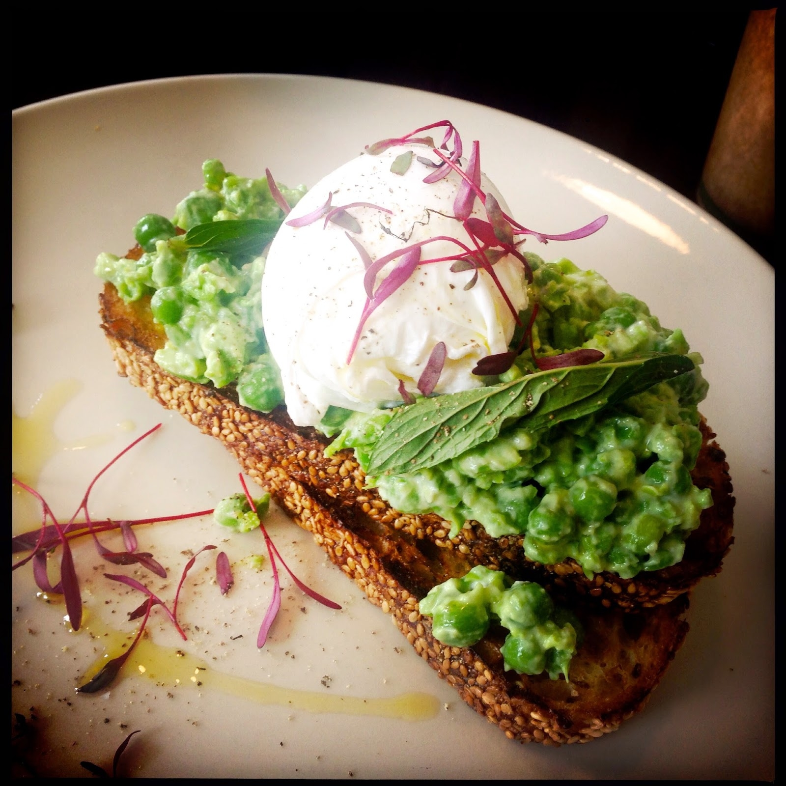 photo of peas on toast