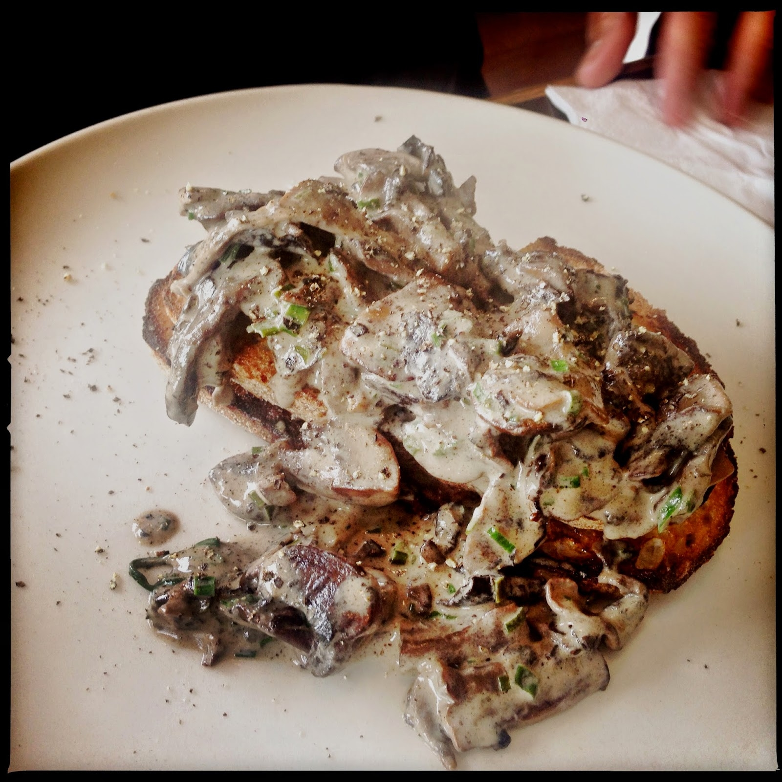 photo of mushrooms on toast