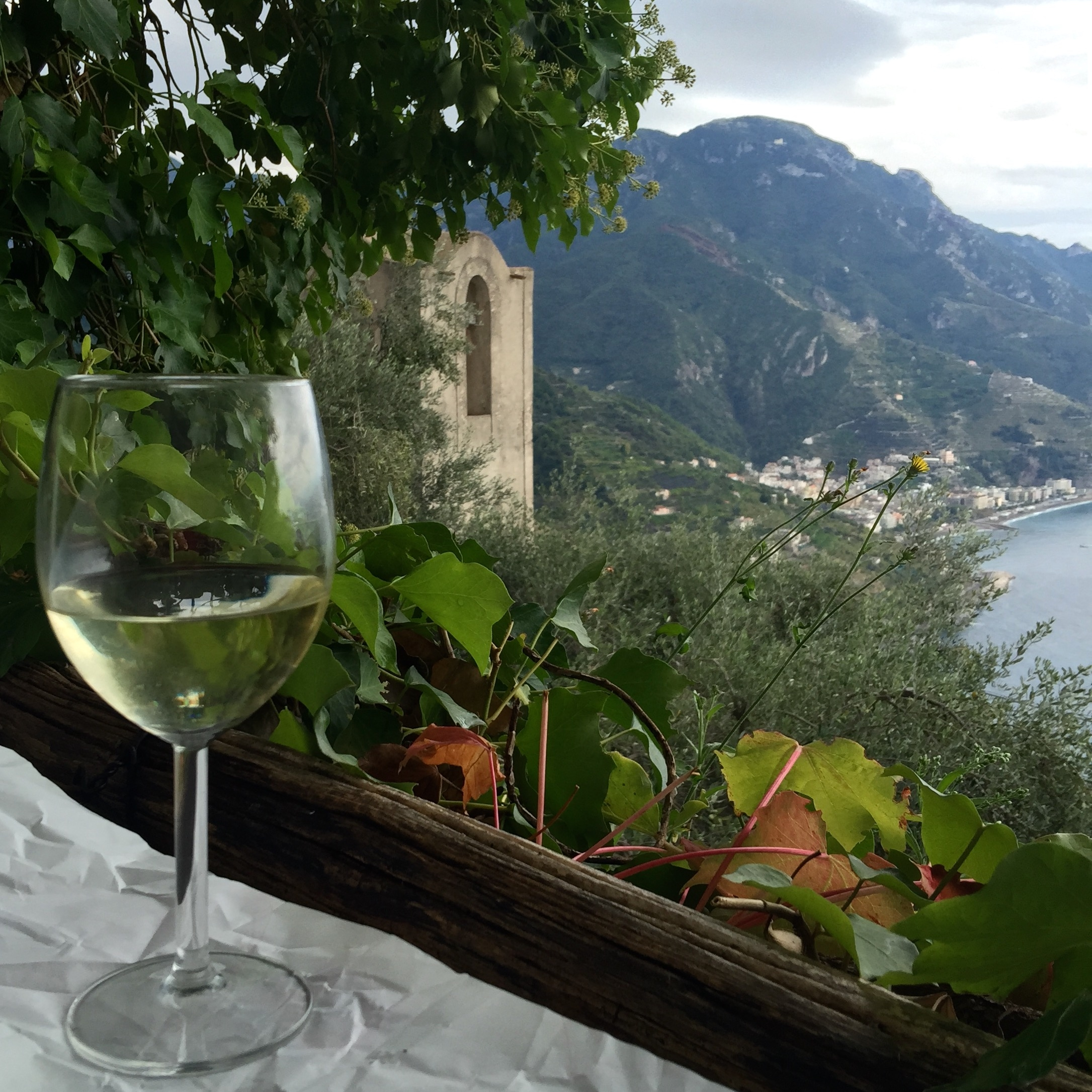 photo of view and wine
