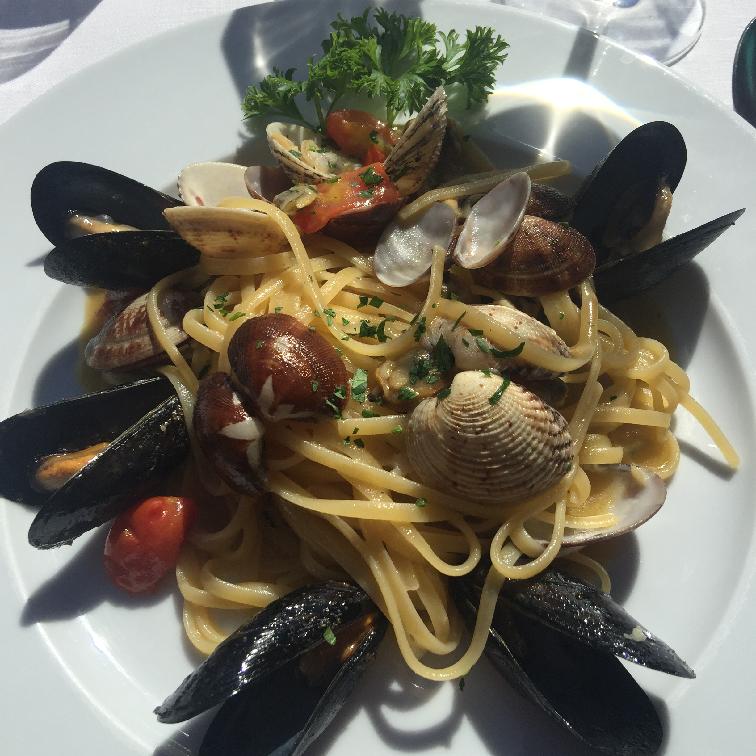 photo of seafood pasta