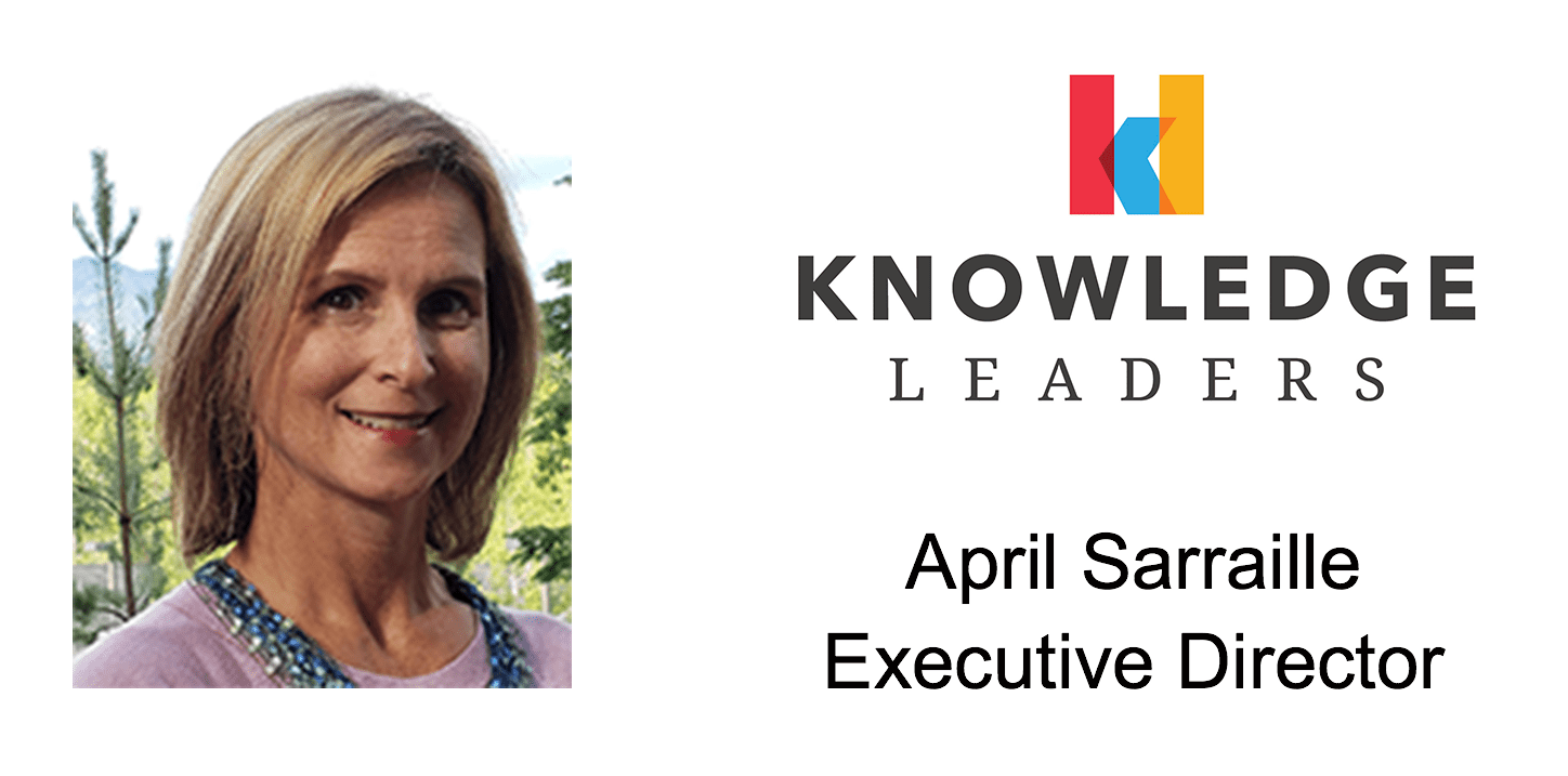 april sarraille knowledge leaders