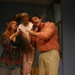 Eileen as Christina, Matt Chizever as her beau, Miki Edelman as her mother-in-law-to-be