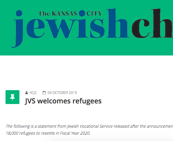 JVS Welcomes Refugees
