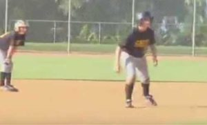 Baserunning at a competitive practice