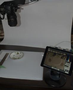 Overhead camera with iPad control