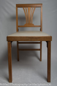 Unfolded chair - front