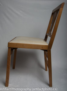 Unfolded chair - left side