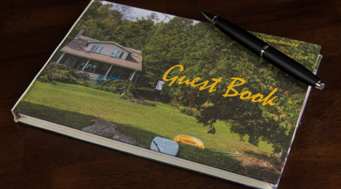 Cottage Guest Book